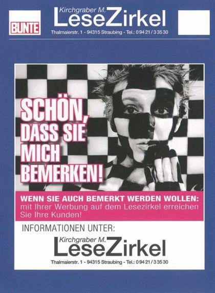 Lesezirkel Straubing, Informationen zu Werbeanzeigen auf den Magazinen.